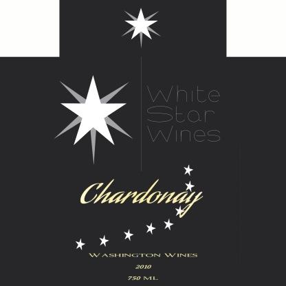 White Star label die cut
